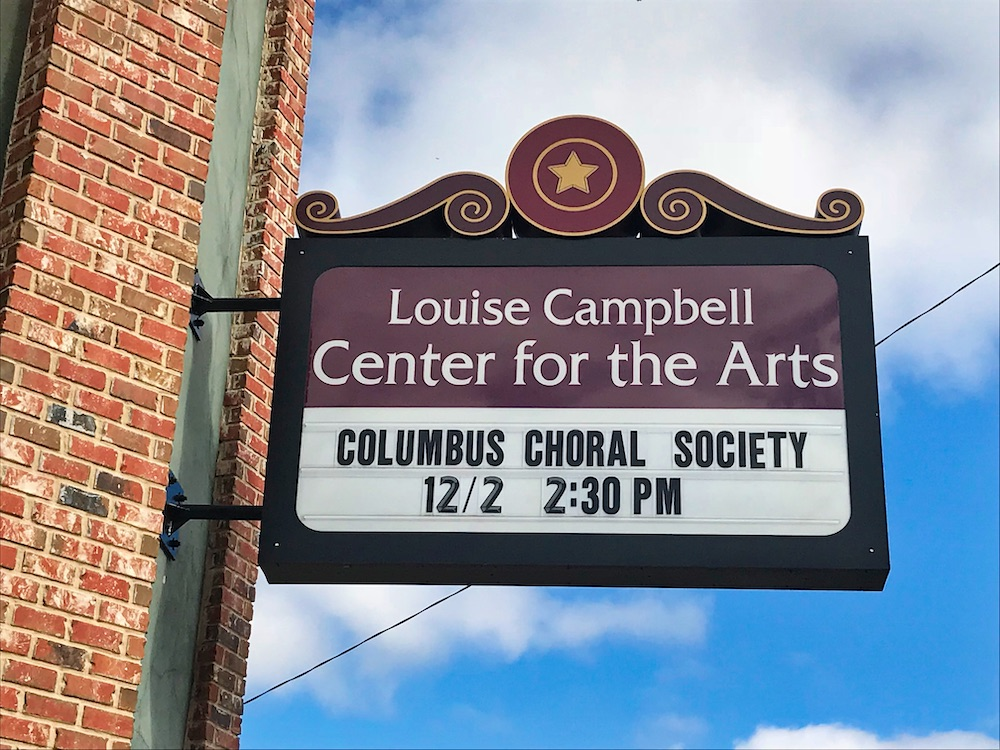 Louise Campbell Center for the Arts sign